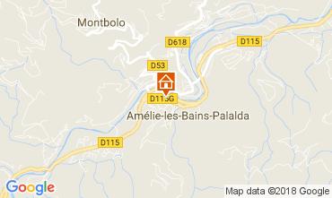Map Amélie-Les-Bains One-room apartment 79307
