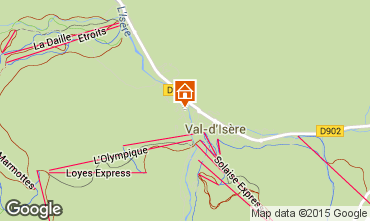 Map Val d'Isère Apartment 50921
