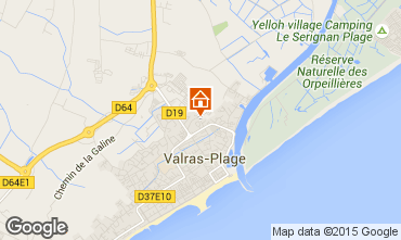 Map Valras-Plage Mobile home 91120