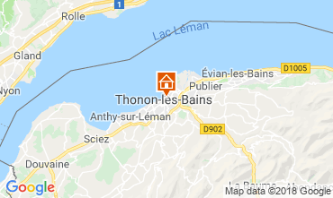 Map Thonon Les Bains Apartment 114583