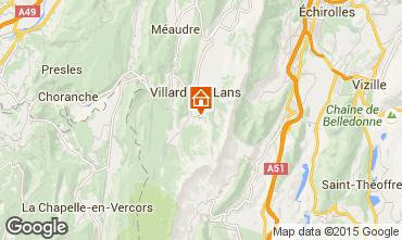 Map Villard de Lans - Corrençon en Vercors One-room apartment 3665