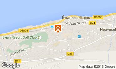 Map Evian les Bains Apartment 102399