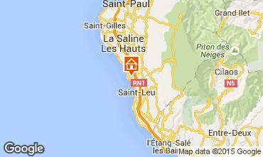 Map Saint Leu One-room apartment 9988
