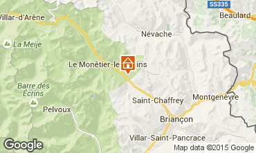 Map Serre Chevalier Chalet 96859