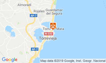 Map Torrevieja Apartment 117796