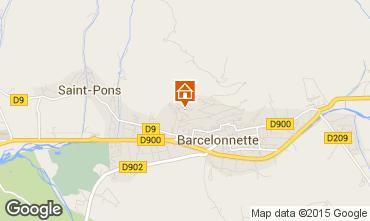 Map Barcelonnette Apartment 2312