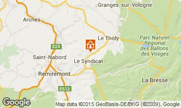 Map Gérardmer Vacation rental 89894