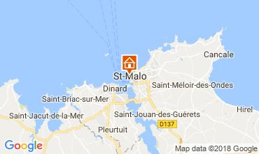 Map Saint Malo Apartment 19262