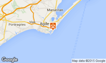 Map Cap d'Agde One-room apartment 6162
