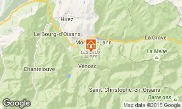 Map Les 2 Alpes One-room apartment 91147