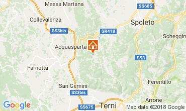 Map Spoleto Apartment 102668