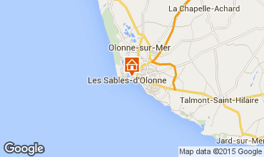 Map Les  Sables d'Olonne Apartment 84878