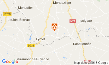 Map Razac-d'Eymet Vacation rental 113318
