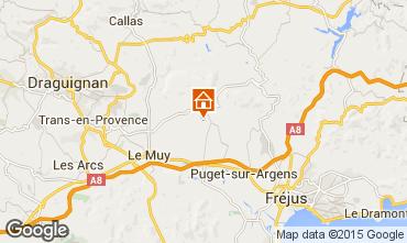 Map Roquebrune sur Argens One-room apartment 92883