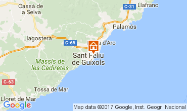 Map S'Agaró Apartment 109160