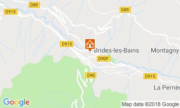Map Brides Les Bains One-room apartment 51116