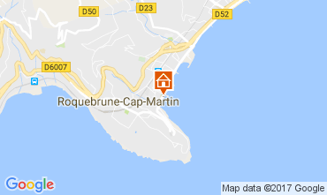 Map Roquebrune Cap Martin Apartment 81034