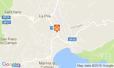 Map Campo nell'Elba Apartment 21995