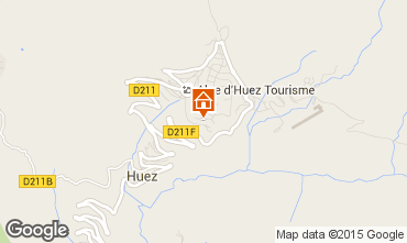 Map Alpe d'Huez Apartment 64379