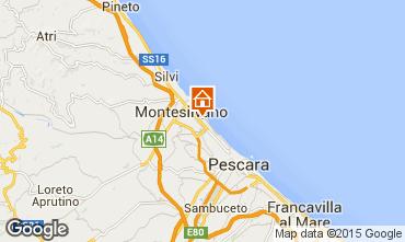 Map Montesilvano Marina One-room apartment 78015