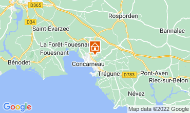 Map Concarneau One-room apartment 8823