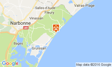 Map Narbonne plage Apartment 68345