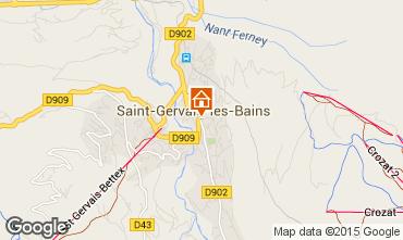 Map Saint-Gervais-les-Bains Apartment 74408
