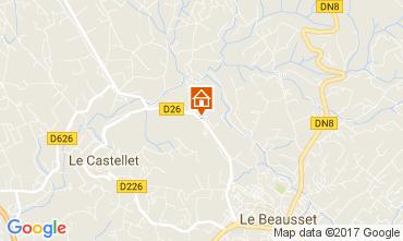 Map Le Castellet Villa 92074