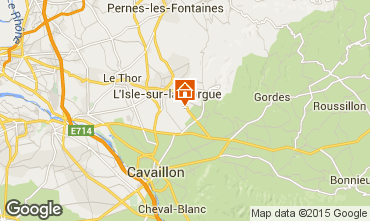 Map Isle sur la Sorgue Vacation rental 61578