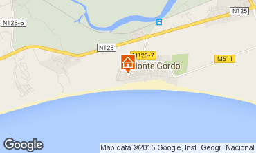 Map Monte Gordo Apartment 80882