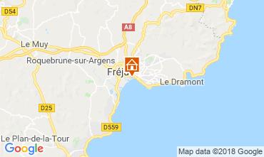 Map Fréjus One-room apartment 110777
