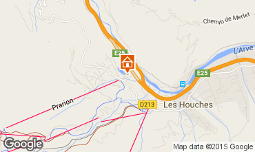 Map Les Houches Apartment 1408