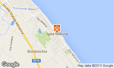 Map Bellaria Igea Marina Apartment 80890