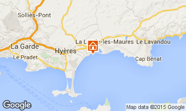 Map Hyères Apartment 5835