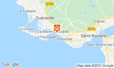 Map La Baule One-room apartment 114466