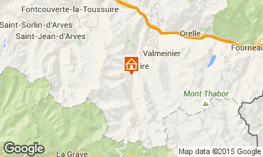 Map Valloire Apartment 3381