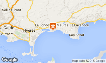Map La Londe les Maures Apartment 10359