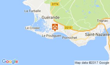 Map La Baule Apartment 30666