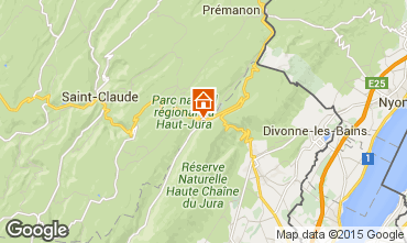 Map Monts Jura Apartment 66236