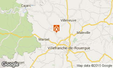 Map Villefranche de Rouergue Vacation rental 91089
