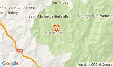 Map Les Menuires One-room apartment 39459