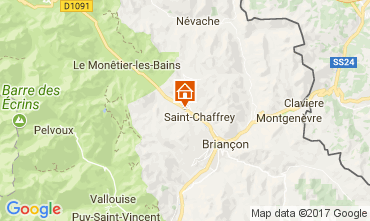 Map Serre Chevalier Apartment 106688