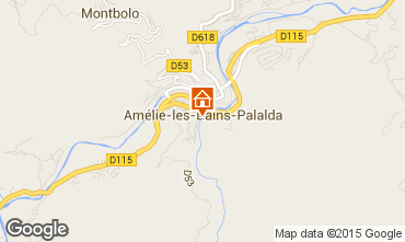 Map Amélie-Les-Bains One-room apartment 80375