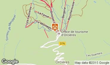 Map Orcières Merlette Apartment 98808