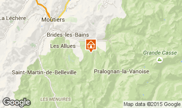 Map Courchevel Apartment 73565