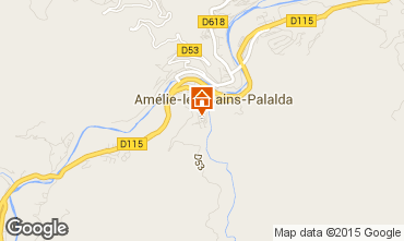 Map Amélie-Les-Bains One-room apartment 74418
