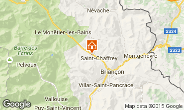 Map Serre Chevalier One-room apartment 2892