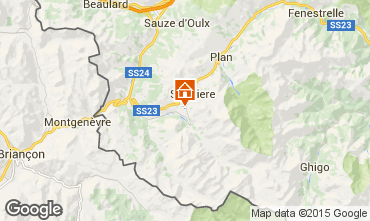 Map Sestriere One-room apartment 59497