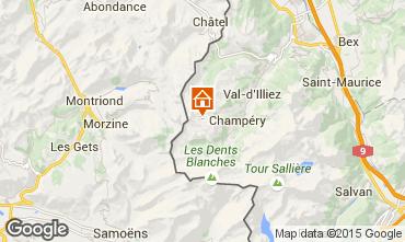 Map Les Crosets Apartment 4697