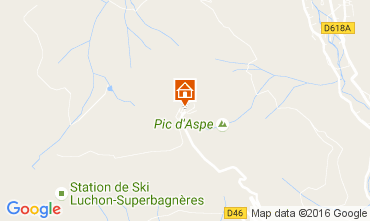 Map Luchon Superbagneres One-room apartment 80922